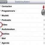 Spotlight (zoeken) overzicht op je iPad verbeteren
