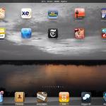 Mijn eigen achtergrond op de iPad
