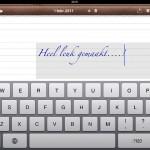 Notes Plus op je iPad; tekst typen..., maar hoe?