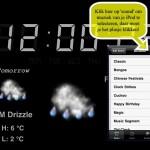 iClock HD; mooie klok/wekker voor je iPad (gratis)