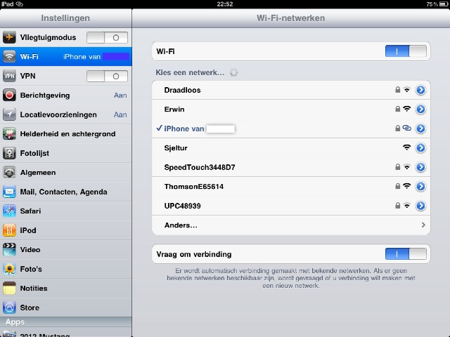 how to connect to internet via iphone hotspot