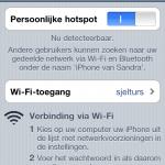 Persoonlijke HotSpot; iPhone4 en je iPad - WiFi sharing