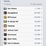 iOS5 - hoe groot zijn je apps?
