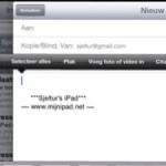 iOS6; bijlage toevoegen aan email