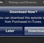 iTunes; Je muziek of video later binnenhalen