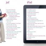 Verschil tussen Juf en iPad
