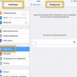 iOS7 - de tekst kan, in sommige gevallen, WEL groter!