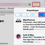 iOS7 - Safari; Twitterlinks in beeld