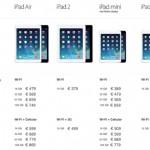 Prijzen nieuwe iPads zijn bekend!