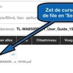 PDF's (of andere files) invoegen binnen de Mail app!