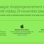 Komende vrijdag - Black Friday - aanbiedingen bij Apple