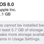 Updaten naar iOS8 met weinig schijfruimte is wel mogelijk