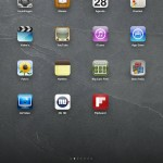 iPad Dock; daar kunnen 6 iconen staan