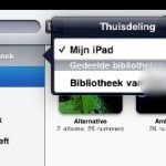 Thuisdeling; Home Sharing op je iPad