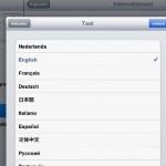 Twitter App; weer in de Engelse taal