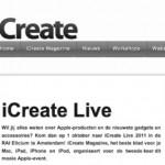 iCreate Live; Apple Event, natuurlijk ook voor de iPad fan