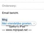iOS5 - Trefwoorden - kleine 'macro' bij het typen