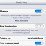iMessage; connectie iPhone en iPad gebruiken