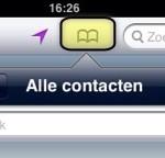 Adres uit Contacten zoeken in Kaarten