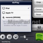 Stream Spotify via AirPlay, op je iPad