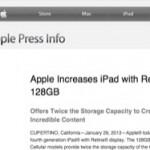 Nieuws; nu ook iPad 128gb!