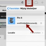 Pinterest Button in Safari