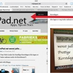 Safari; swipe pagina terug en vooruit
