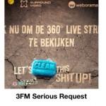3FM Serious Request met 360 graden videostream! #SR13
