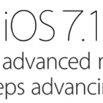 iOS7.1 is uit - een minimale update......