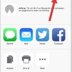 Vanuit apps iets in Dropbox bewaren