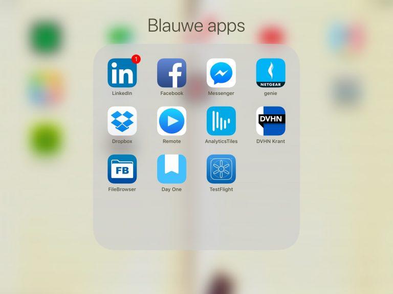 Meerdere apps in 1 keer verplaatsen - iOS